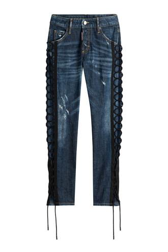jeans skinny jeans lace blue