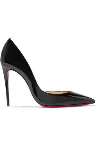 100 pumps leather black shoes