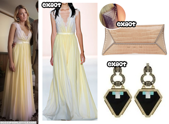 Jenny packham yellow dress gossip girl