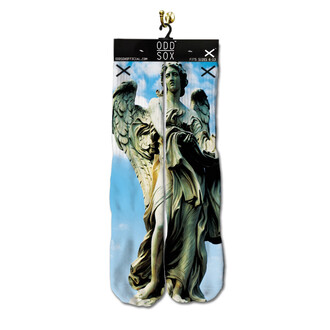 socks odd sox angel statue religiious style fashion stand out be odd religious trendy dope