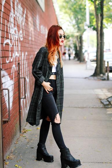 jeans blogger top le happy sunglasses