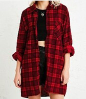 top,checked shirt