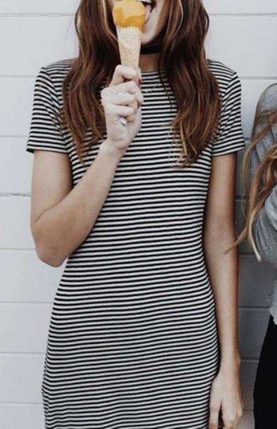 dress dress black and white