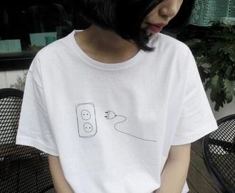 t-shirt food minimalist white t-shirt