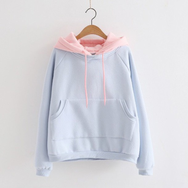 828bda29 sweater, jacket, colorblockpastel, pastel, hoodie, cute, pastel ...