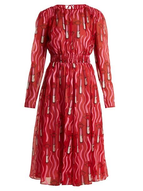 Valentino dress silk print red