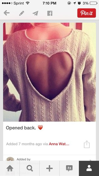 sweater heart knit sweater