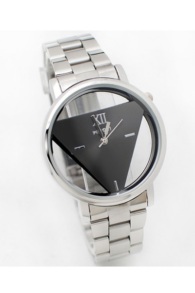 Triangle Dial Stainless Strap Watch - OASAP.com