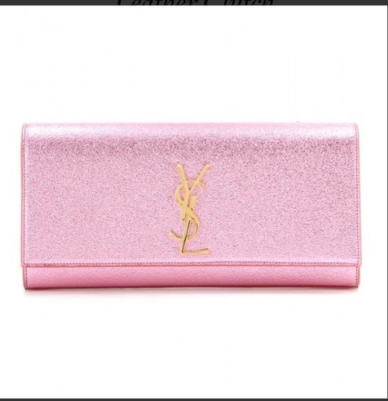glitter bag clutch yves saint laurent