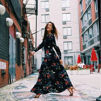 dress nastygal lace up freak of nature floral lattice maxi maxi dress floral dress long sleeve dress