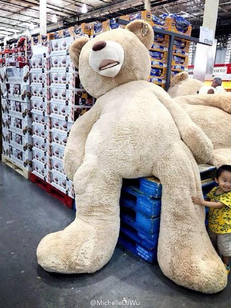 stuffed animal teddy bear pajamas bag oversized big teddy bear