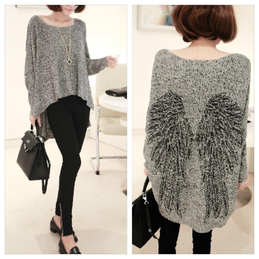 Angel Wings Sweater - Gray