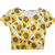 White Short Sleeve Sunflower Pattern T-Shirt - Sheinside.com