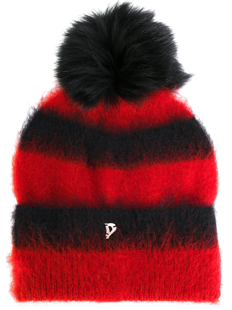 8fd6de7f46a Dondup - fluffy striped beanie - women - Polyamide Mohair Wool - One ...