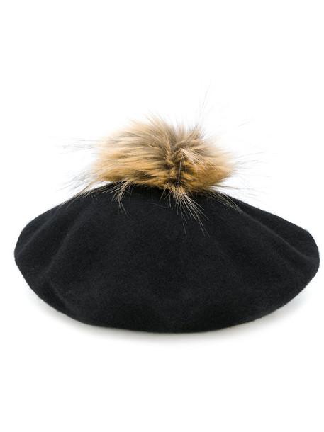 Le Chapeau fur women hat black wool