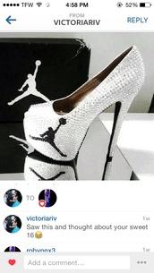 shoes,high heels,air jordan,bling
