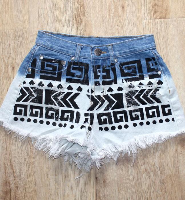 Hot Pants In Tribal Print