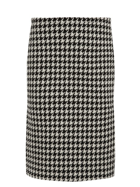 MARNI skirt pencil skirt wool white black