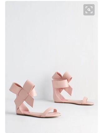 shoes betsey johnson pink blush pink flats knot nude nude shoes flat sandals beige flat sandals