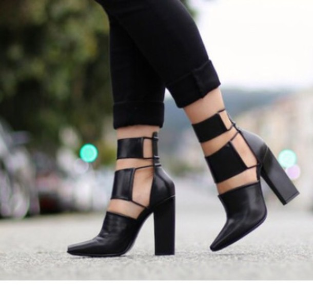 shoes black heels
