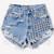 902 Vintage Half Studded Frayed Short | RUNWAYDREAMZ