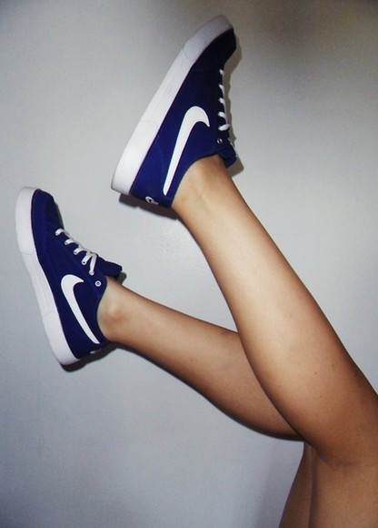 shoes nike white sneakers nike sneakers purple dark blue cute swoosh fashionable