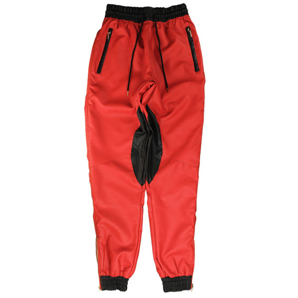 The Leather Jogger Pants - Red By Coke Boys New Era Caps, Snapbacks, Bucket Hats, T-Shirts, Streetwear USA Cranium Fitteds
