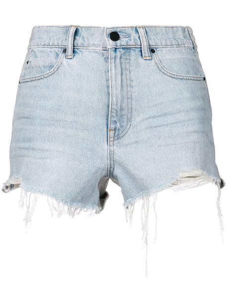 Alexander Wang shorts denim shorts denim women cotton blue