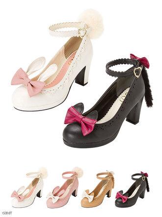 shoes cute kawaii cats bunny pink pastel jfashion lolita