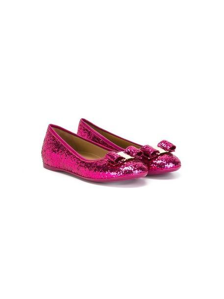 Salvatore Ferragamo Kids leather purple pink shoes