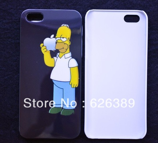 New Homer Simpsons hard cases cover for iphone 5 cell phone case covers to iphon5 free shipping-in Phone Bags & Cases from Electronics on Aliexpress.com