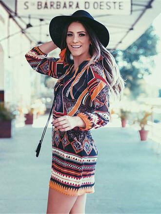 dress boho fashion style trendy summer pattern hot long sleeves mns