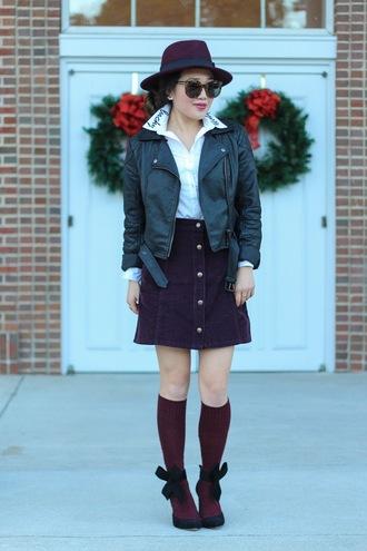 gracefullee made blogger top hat jacket skirt shoes socks sunglasses make-up jewels