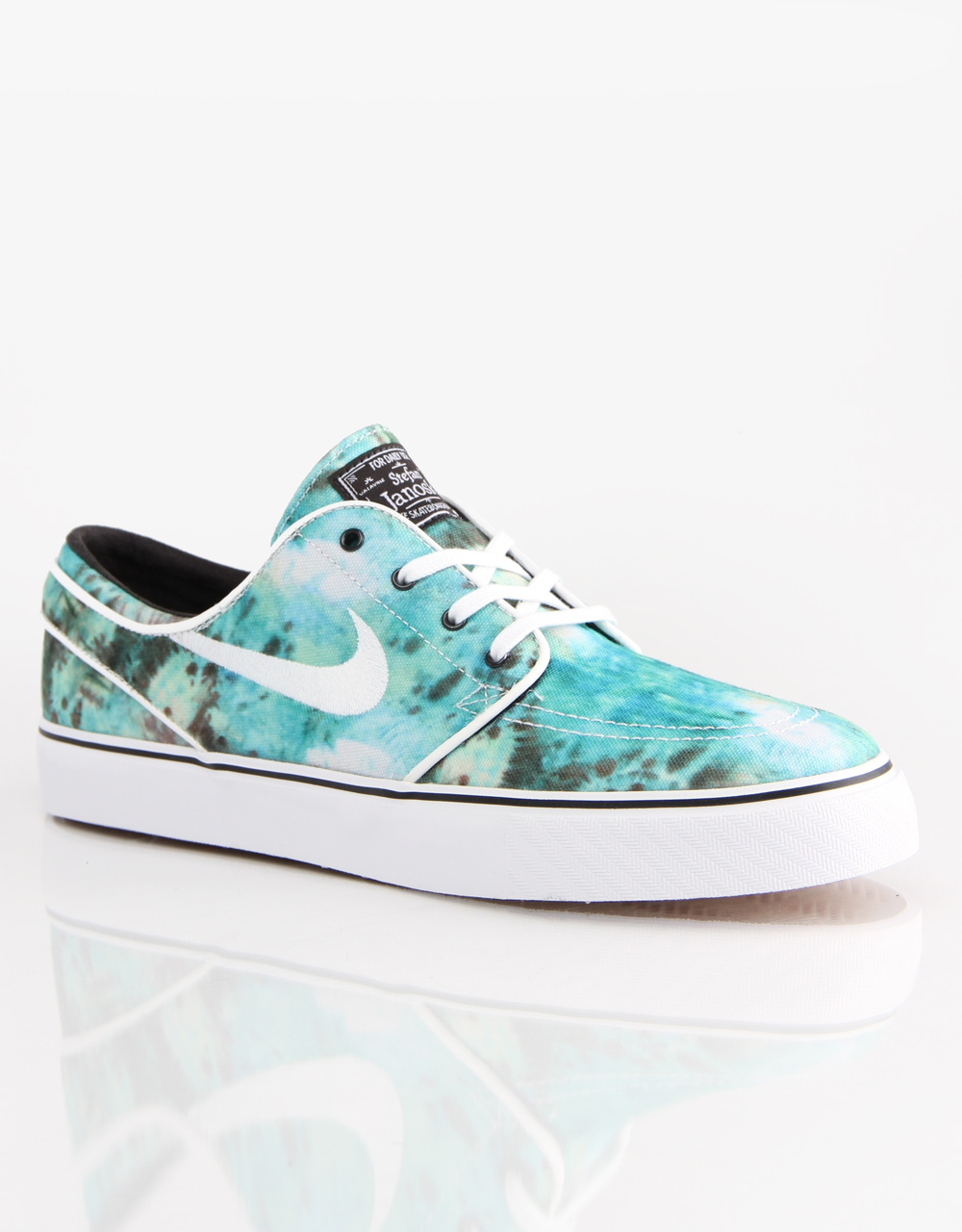 0c43a75a43 Nike SB Zoom Stefan Janoski Skate Shoes - Turbo Green White Bright ...