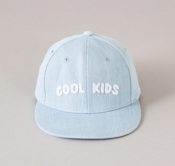 hat baby blue pastel blue dad hat for women cute kawaii teenagers cool kids blue