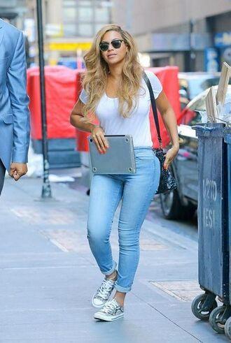 top sneakers beyonce jeans
