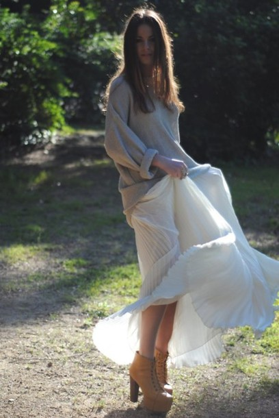 maxi pleated zina fashion vibe sweater skirt