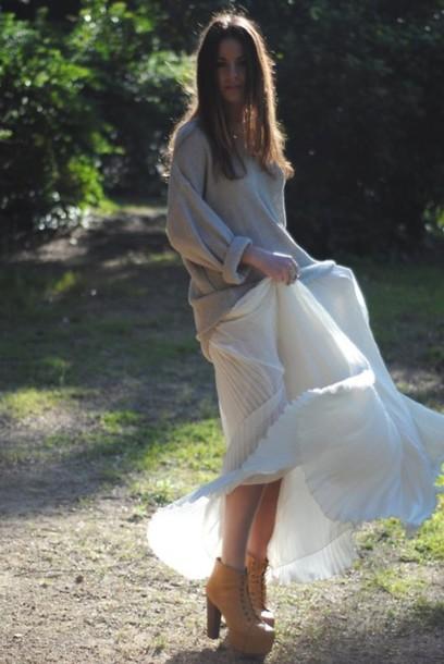 zina maxi pleated fashion vibe sweater skirt