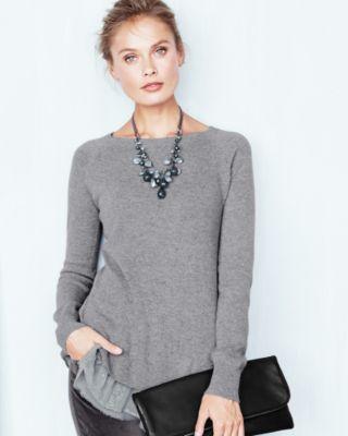 a3cd00b953 Shirttail Cashmere Sweater