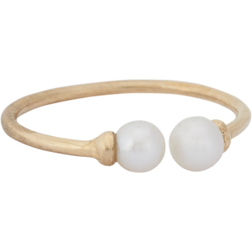 Loren Stewart Pearl & Gold Open-Band Ring at Barneys.com