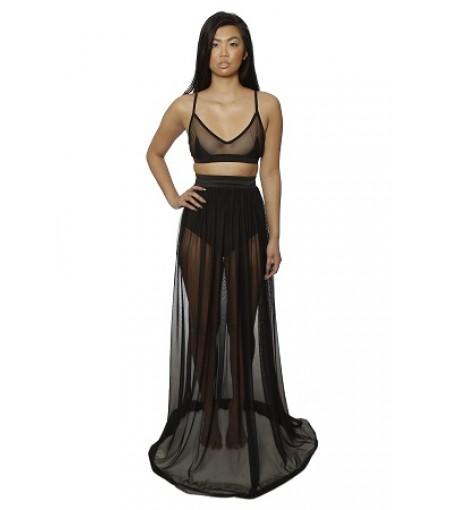 Bella black mesh skirt