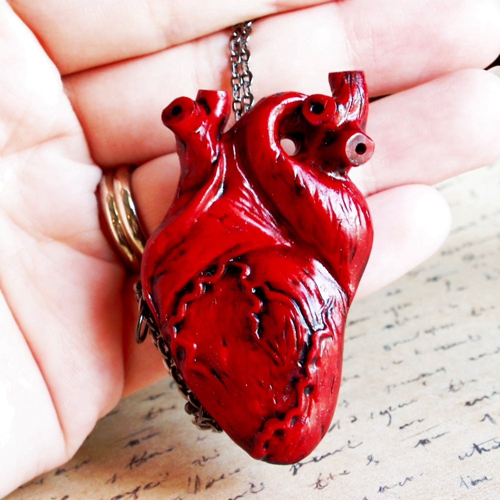 Anatomical heart locket only at Wickedgems.com