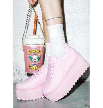 shoes pink platform shoes dolls kill pastel pastel pink sneakers