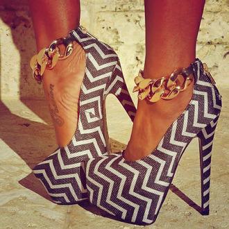 high heels platform high heels print