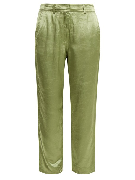 SIES MARJAN satin green pants