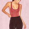Clothing : bodysuits : 'luca' burgundy seamless knit stretch bodysuit