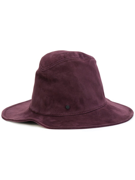 hat bucket hat purple pink