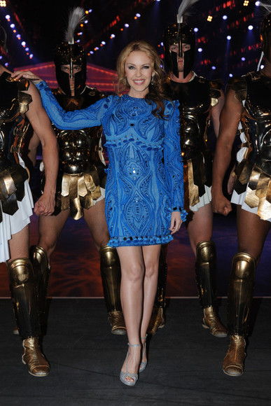 kylie minogue blue dress