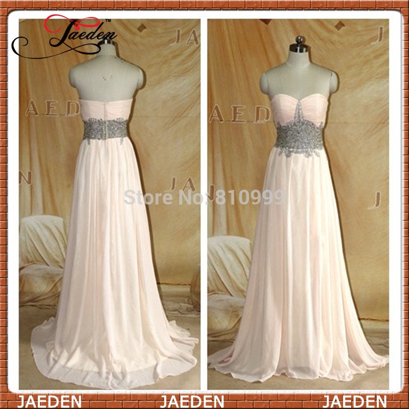 Aliexpress.com : buy 2014 real photos stunning bead waist sweetheart sexy front slit long chiffon woman evening dress formal party gowns custom from reliable gown bolero suppliers on suzhou jaeden garment co., ltd.