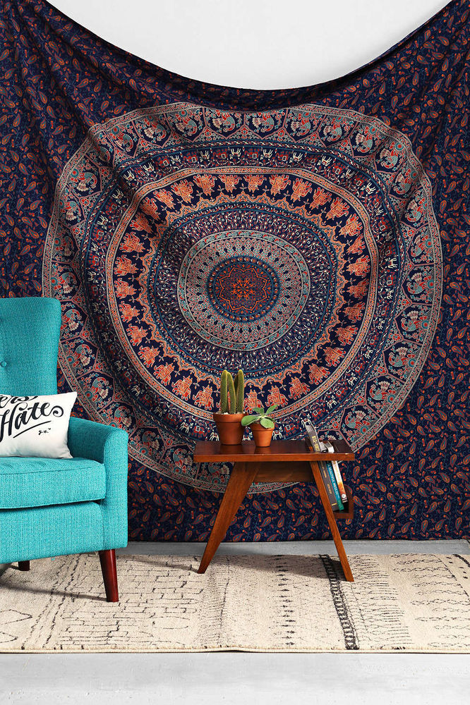 Hippie Indian Tapestry Mandala Throw Wall Hanging Bohemian Bedspread Dorm Decor